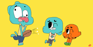 Gumball and Darwin with Ralph by NatoMan2