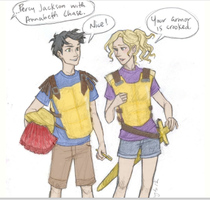 Percy and Annabeth by Painter-Gal77