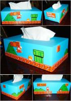 Mario tissue box by Misaky