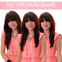 Pack 3 PNG Carly Rae Jepsen HQ. by AgussSweet