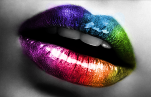 Rainbow on my lips... by mishulkaa
