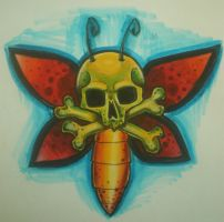 Skull Butterfly :D by Blixtra