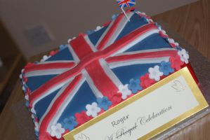 Union Jack Birthday cake by PiggySpig22