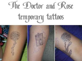 The Doctor and Rose temporary tattoos by DragonsAndDreamscape