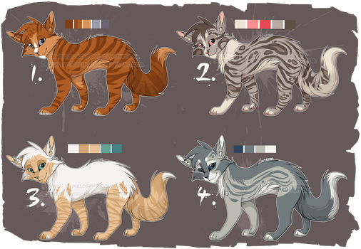Warrior Cat Adoptable Auction - CLOSED by RussianBlues