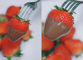 Strawberry by w6n3oshaq
