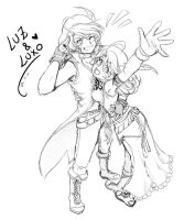 Luz and Luxo sketch by Rolly-Chan