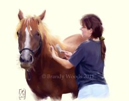 Tina and Helawa by BrandyWoods