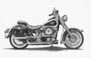Harley Heritage Softail by ajgrier