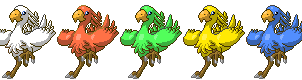 Chocobo Sprites by Acoyph