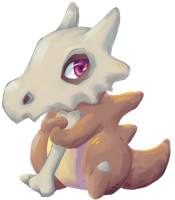 Cubone by Apricotil