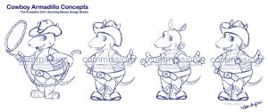 Armadillo Grill Concept Sketches by KrisCynical
