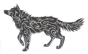 wolf tattoo by CaptainMorwen
