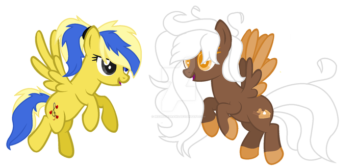 Melody Sweetheart and Cinamon Stix by MissRoseDraws