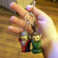For Sale:HidaShika Keychain by Gingersnap87
