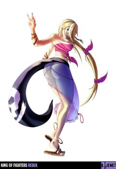 King of Fighters Redux: Jenet by digitalninja