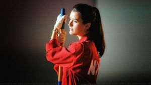 Cote De Pablo Ziva in NCIS red by Dave-Daring