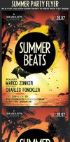 Summer Beats Party Flyer Template by Hotpindesigns