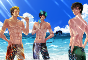 Ao no Exorcist -Summer Break- by Rin-Shiba