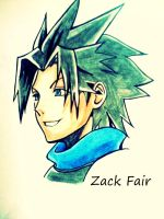 Zack Fair (Kingdom Hearts Birth by Sleep) by Yuma76