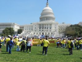 Protesting on the Capitol Lawn. by Flaherty56