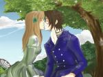 Lovers at the Prater by Aoi-tama