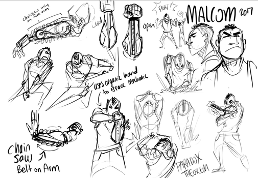 Malcolm Movement studies by Miapet