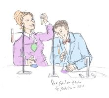 Valerie Frizzle and Bill Nye by Nebulan