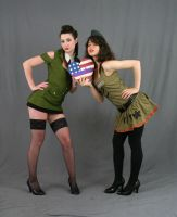Military Gals 3 by MajesticStock