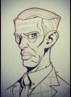 Inktober 2014 - Day 4 - Nucky Thompson by Zatransis