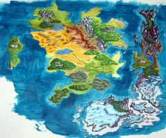 Fantasy Map by Icarus667