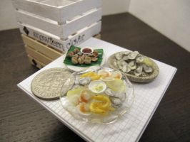 Miniature Shellfish Dishes in 1-12 by Snowfern