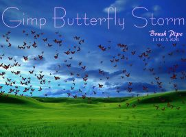 Gimp Butterfly Storm by Geosammy