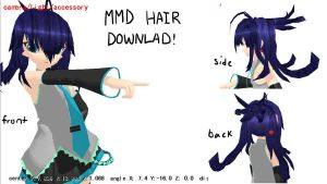 MMD weird hair download by Vocaloid98