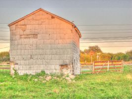 Old building, sunset, HDR by Lectrichead
