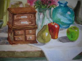 water Color Still Life by RyumuyR