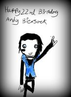 Happy 22nd Birthday Andy Biersack by asymmetrical-wings