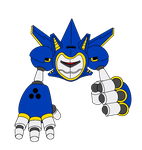 Metal Sonic Mark VI : The Iron Sonic  - Colored by funkyjeremi