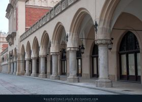 Cloth Hall side view Arches by kuschelirmel-stock
