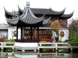 Chinese Garden II by KelbelleStock