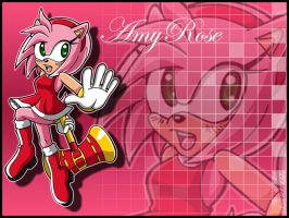 .:Amy Rose Wallpaper:. by BK05