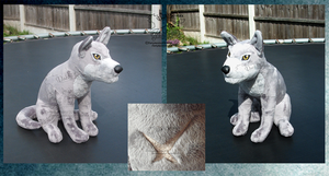 Wolf's Rain sitting Tsume SOLD by darkpheonixchild