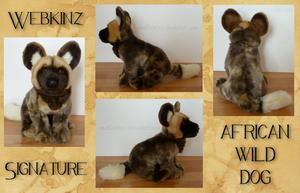 Webkinz Signature African Wild Dog by MustLoveTrees