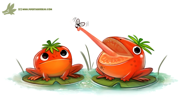 Daily Paint #1217. Tomatoads by Cryptid-Creations
