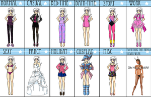 Ilya Outfits Meme FINISHED by Lyra-Elante
