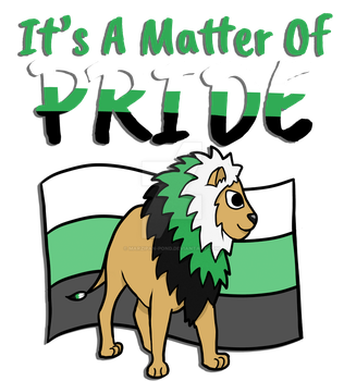 Neutrois Pride Lion- With Text by marzipan-pond