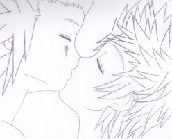 AkuRoku- Kiss by EeveePower