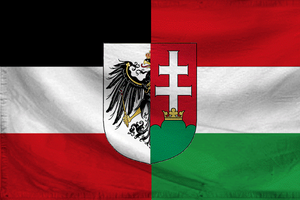 Flag of Prussia-Hungary Empire, 1871 by otakumilitia