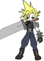 Cloud Strife Chibi 2 by Frankie2411