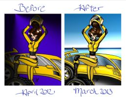 Rubber Racer Before and After Coloring by JoJiaMystie